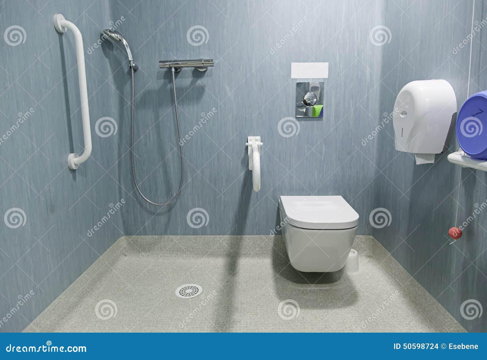 Salle de bains handicap e photo stock image 50598724 - Salle de bain hopital ...