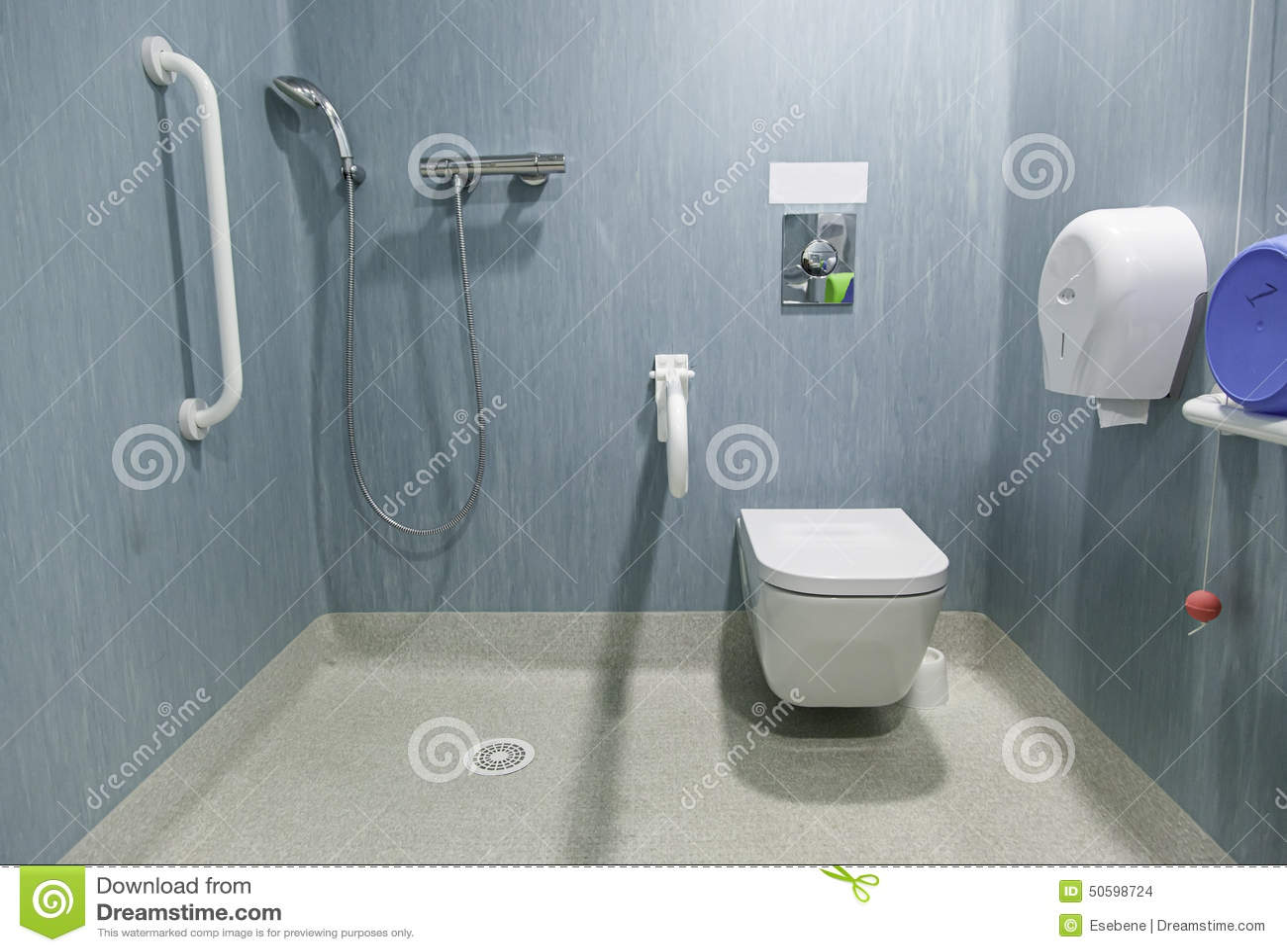 salle de bains handicap e photo stock image 50598724. Black Bedroom Furniture Sets. Home Design Ideas