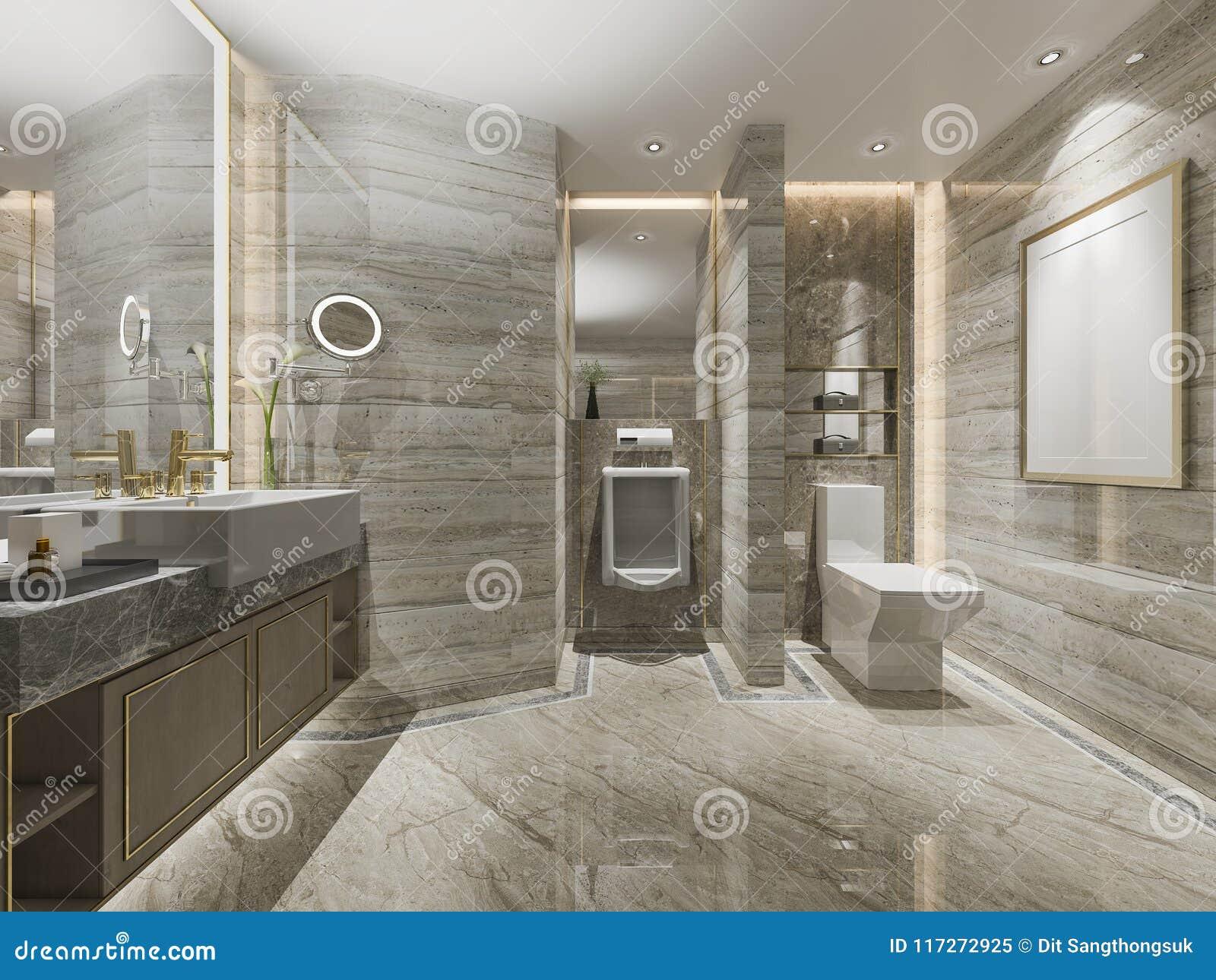 Salle De Bains De Luxe Et Toilette De Conception Moderne Du