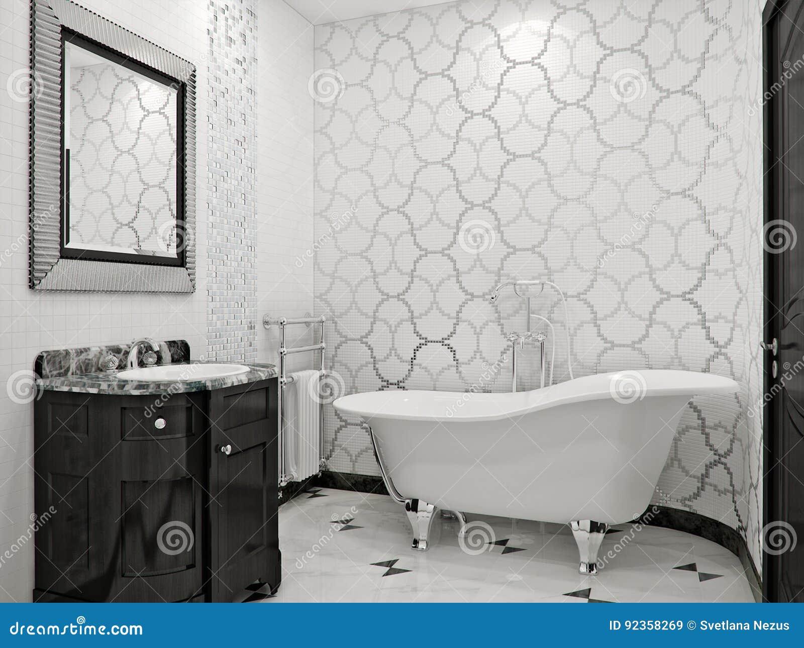 Salle De Bains Luxueuse Dans Le Type Classique Illustration ...