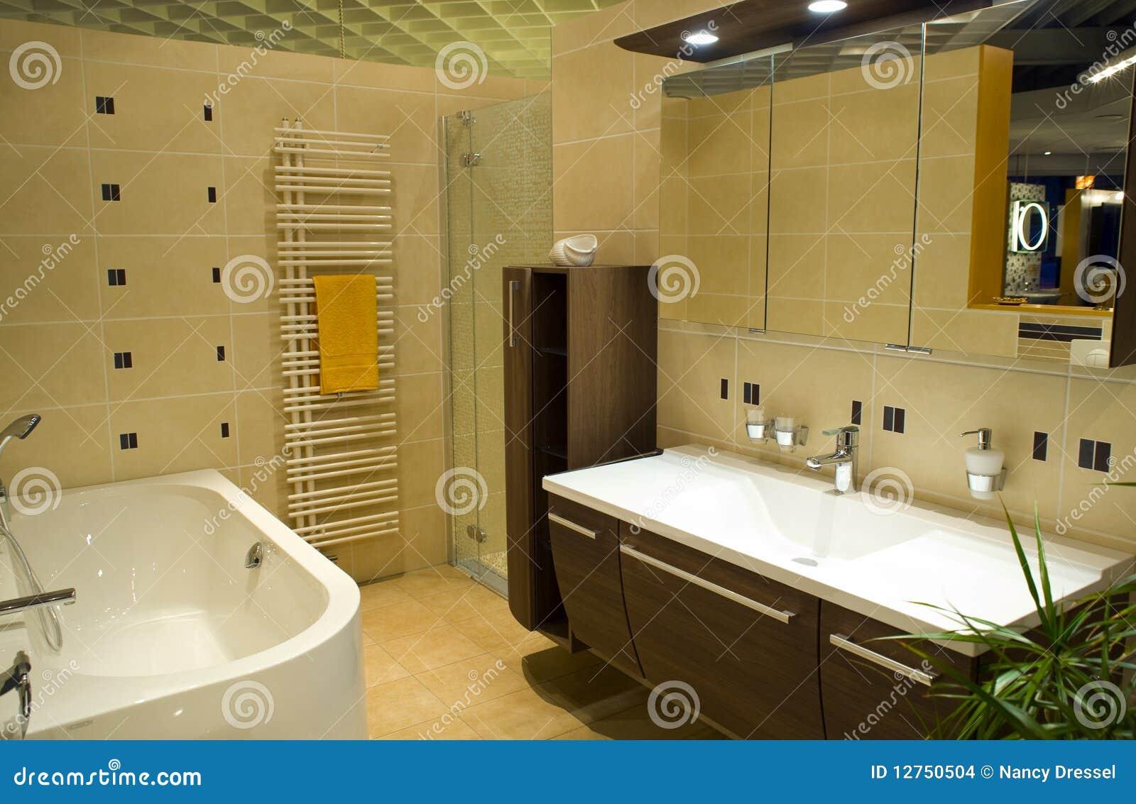salle de bains moderne images stock image 12750504. Black Bedroom Furniture Sets. Home Design Ideas