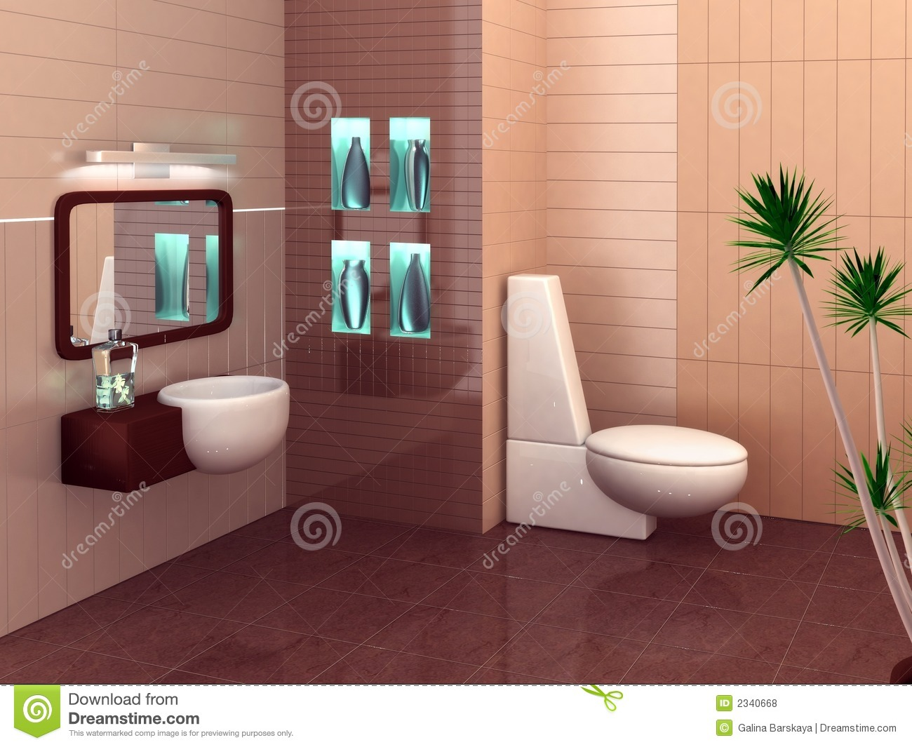 Salle de bains moderne photo stock image du contemporain for Salle bain moderne photo