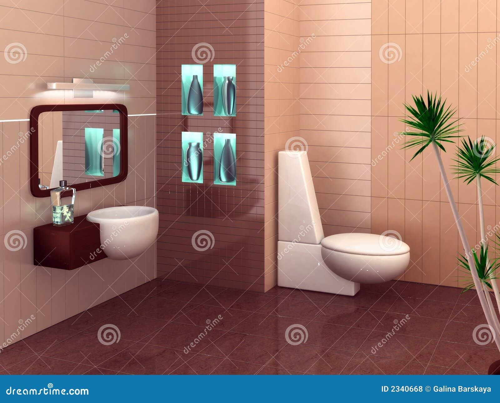 Photos libres de droits: Salle de bains moderne