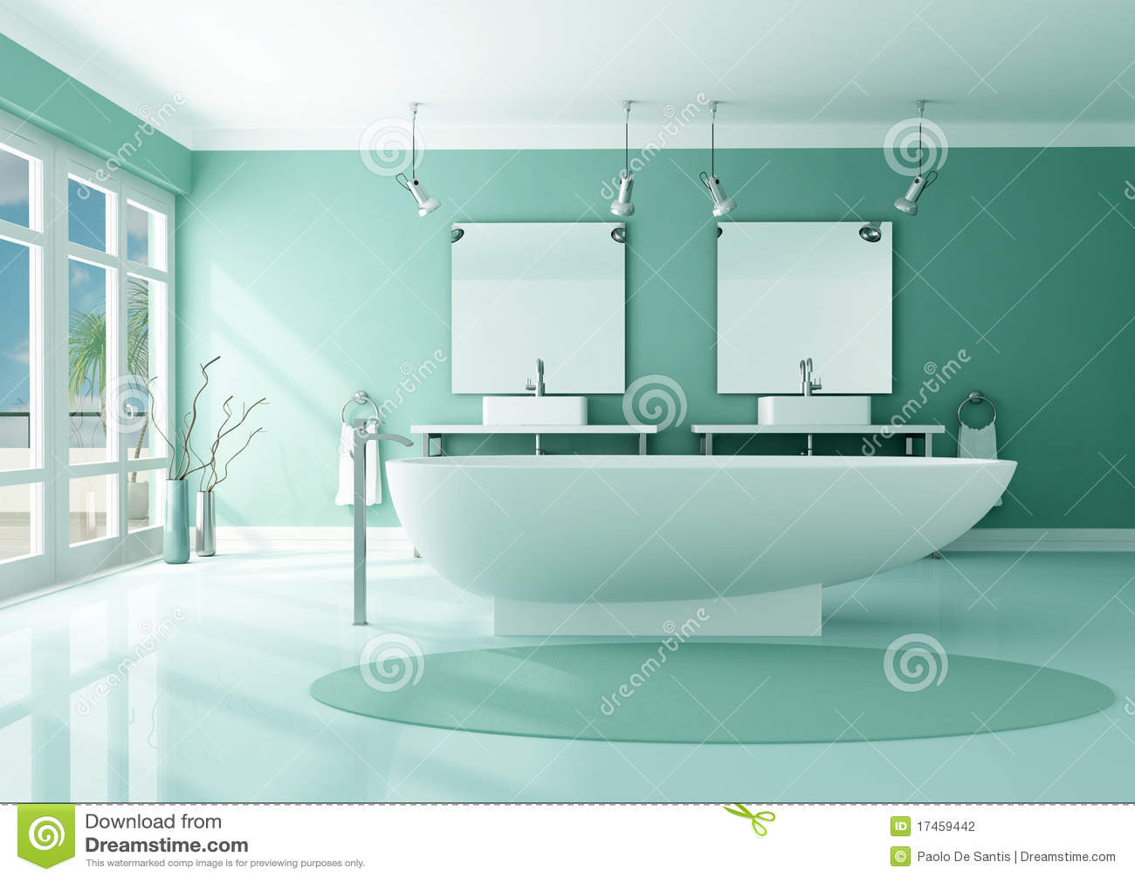 Salle de bains moderne de luxe photographie stock image 17459442 - Plan salle de bain moderne ...