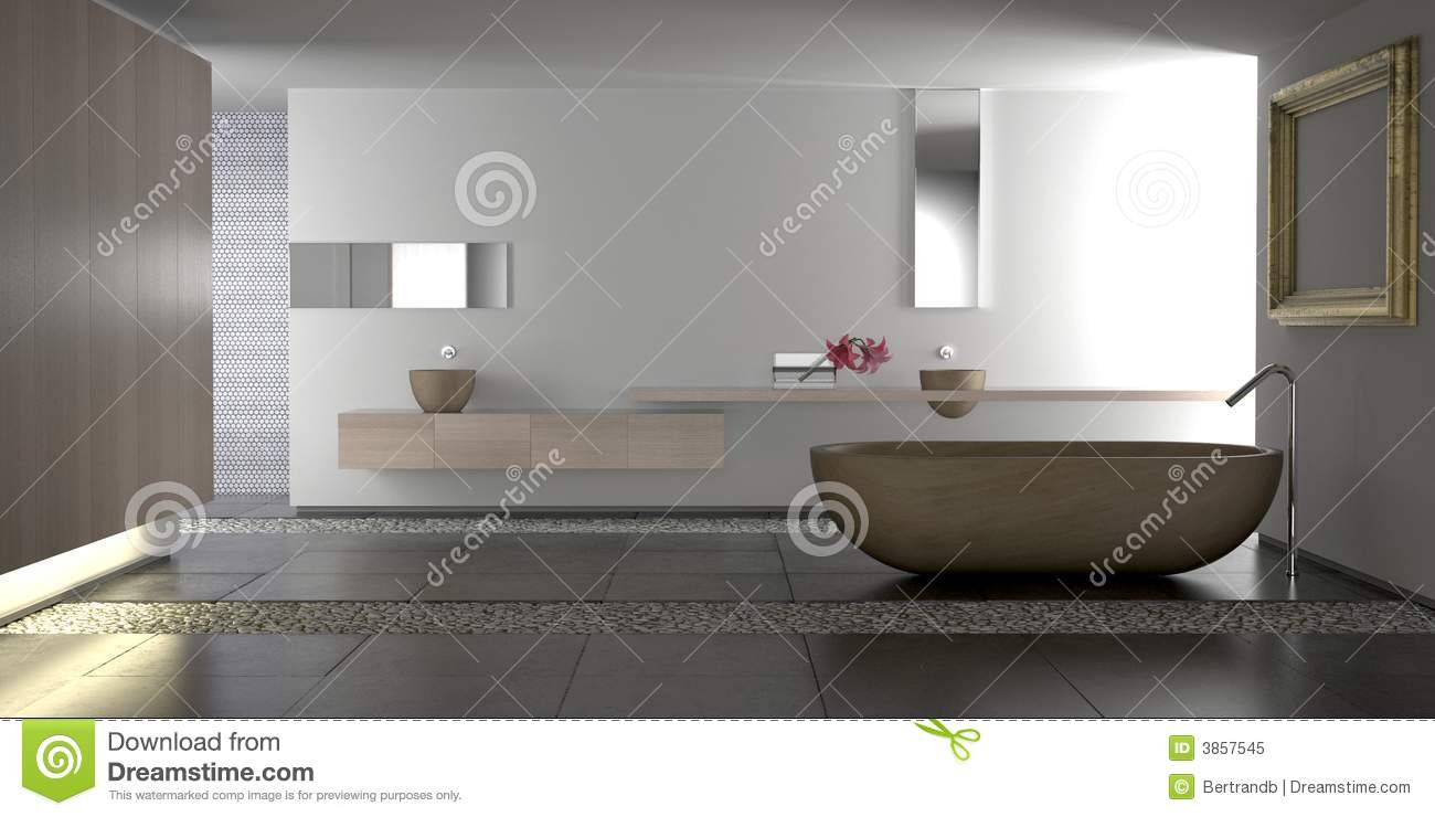 salle de bains moderne de luxe illustration stock illustration du lumi re prise 3857545. Black Bedroom Furniture Sets. Home Design Ideas
