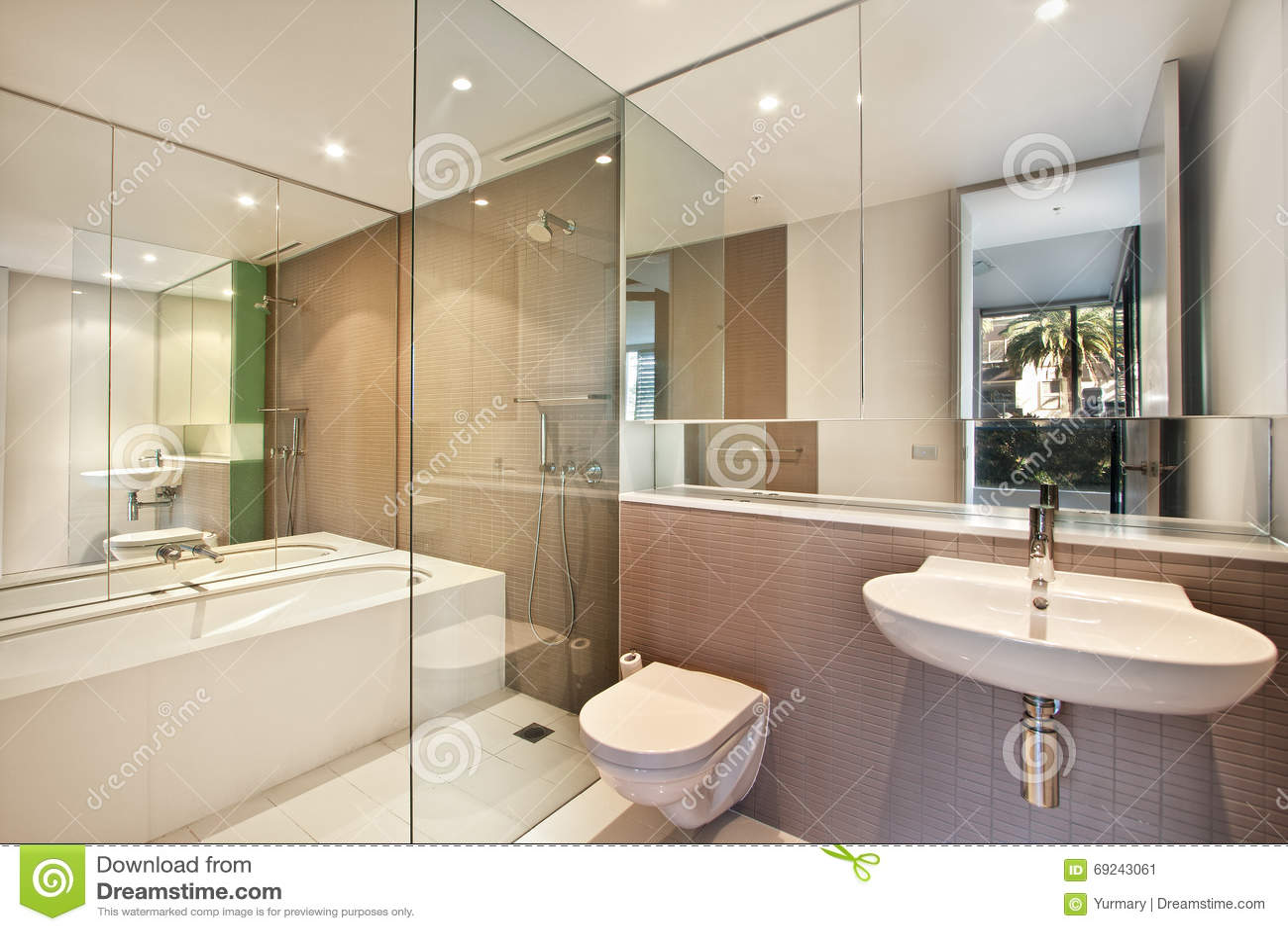 Salle De Bains Moderne En Appartement De Luxe Image stock - Image du ...