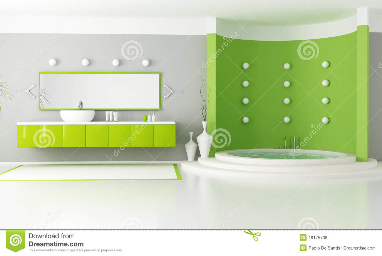 salle de bains moderne verte illustration stock illustration du bathroom gris 19175738. Black Bedroom Furniture Sets. Home Design Ideas