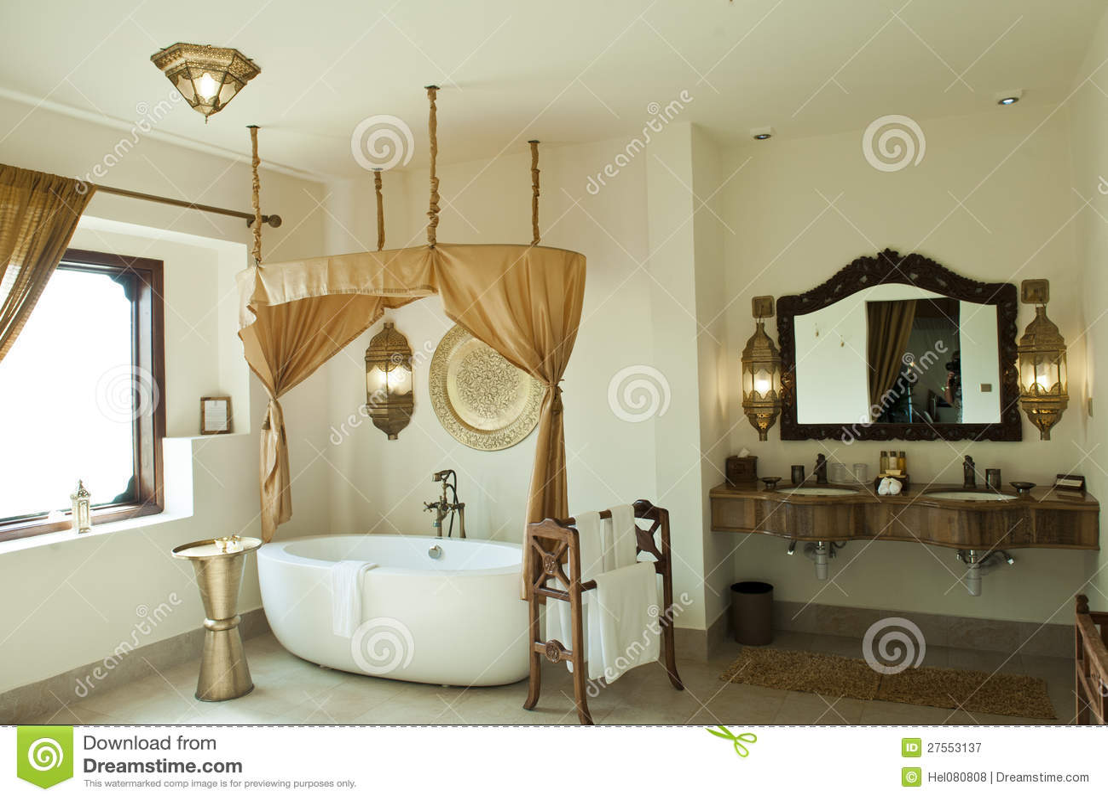 Salle De Bain Luxe Hotel ~ salle de bains orientale de luxe d h tel image stock image du