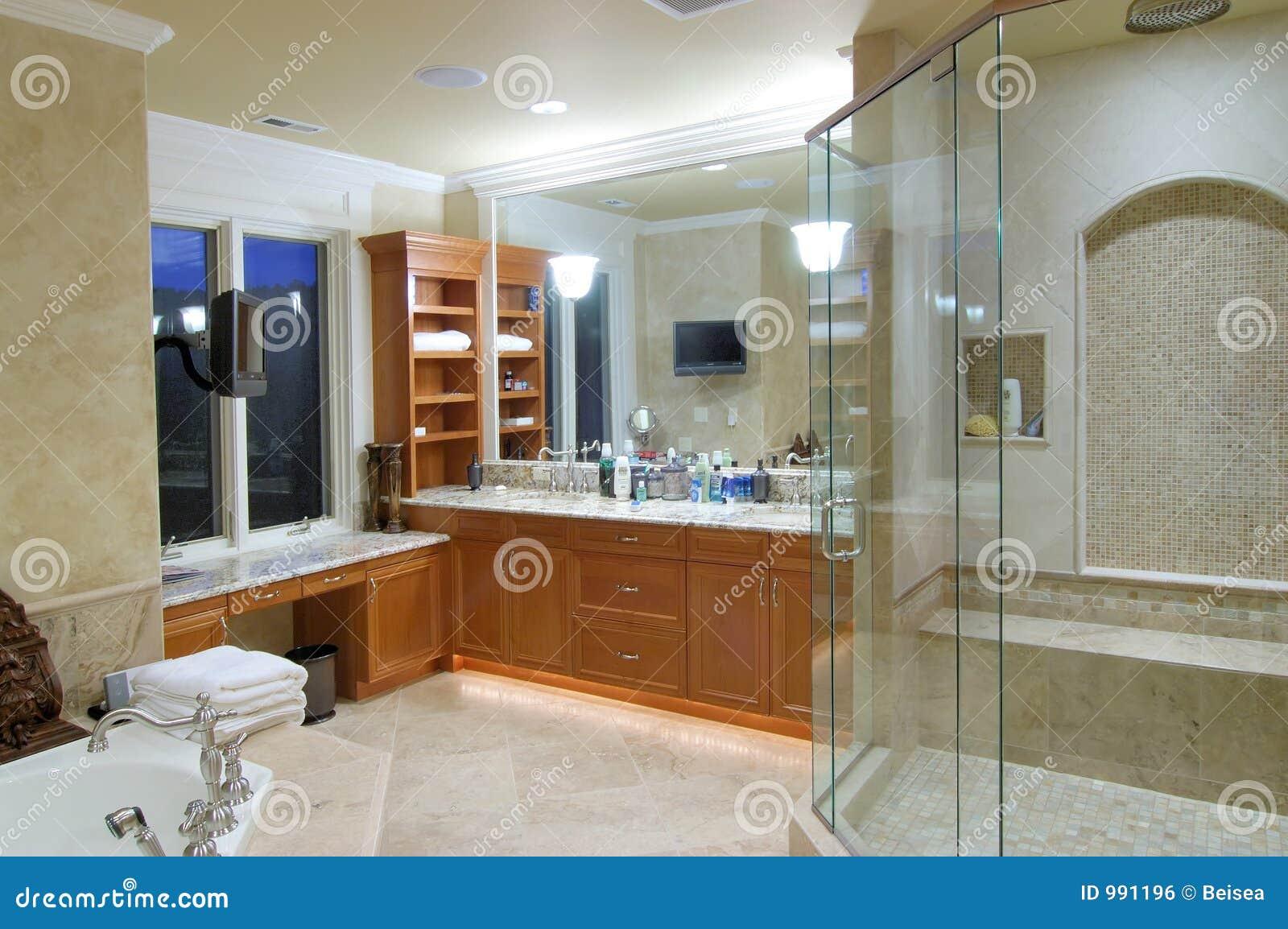 Tv Dans Salle De Bain ~ salle de bains principale photo stock image du t l vision 991196