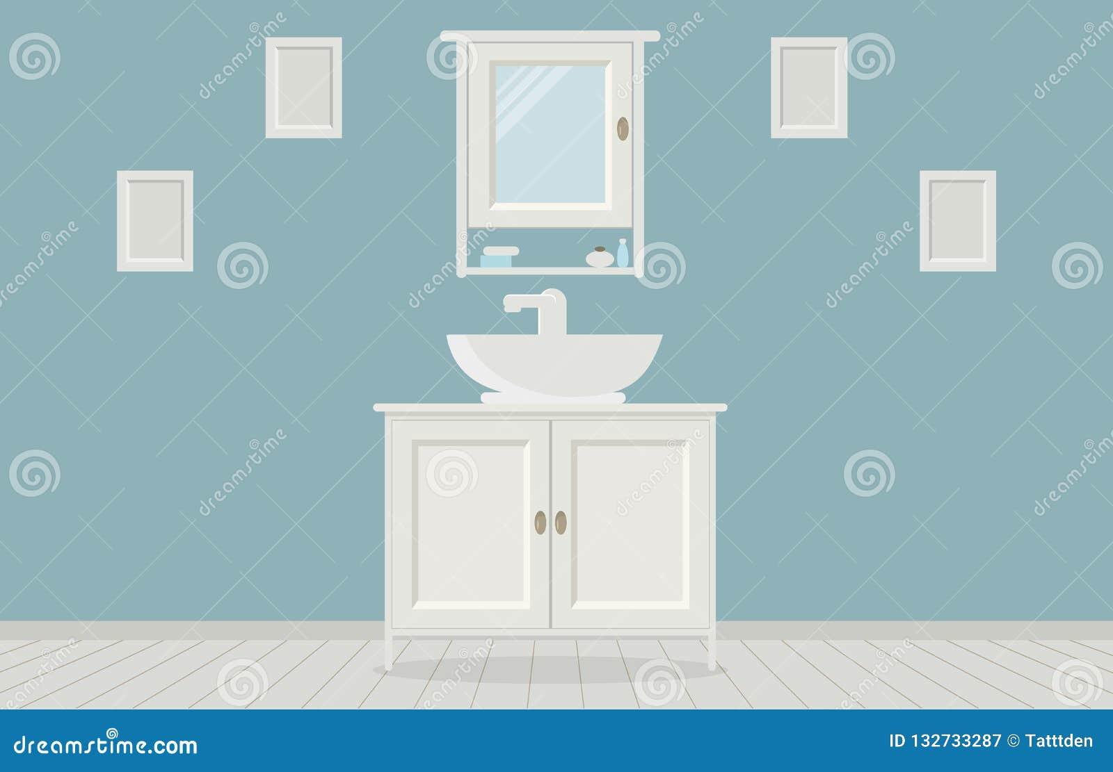 Salle De Bain Provencale salle de bains de style de provencal avec le lavabo, garde