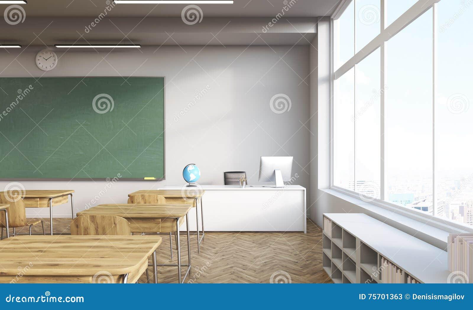 Salle de classe avec la fen tre panoramique illustration for La fenetre panoramique