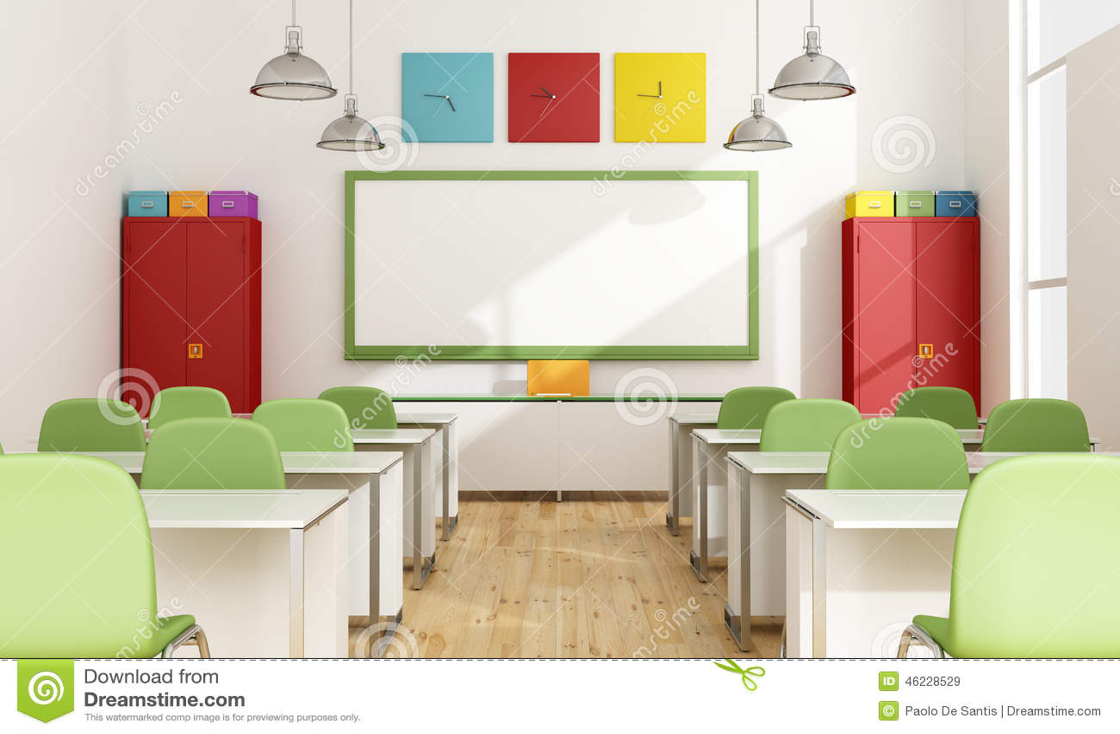salle de classe color e illustration stock image 46228529. Black Bedroom Furniture Sets. Home Design Ideas
