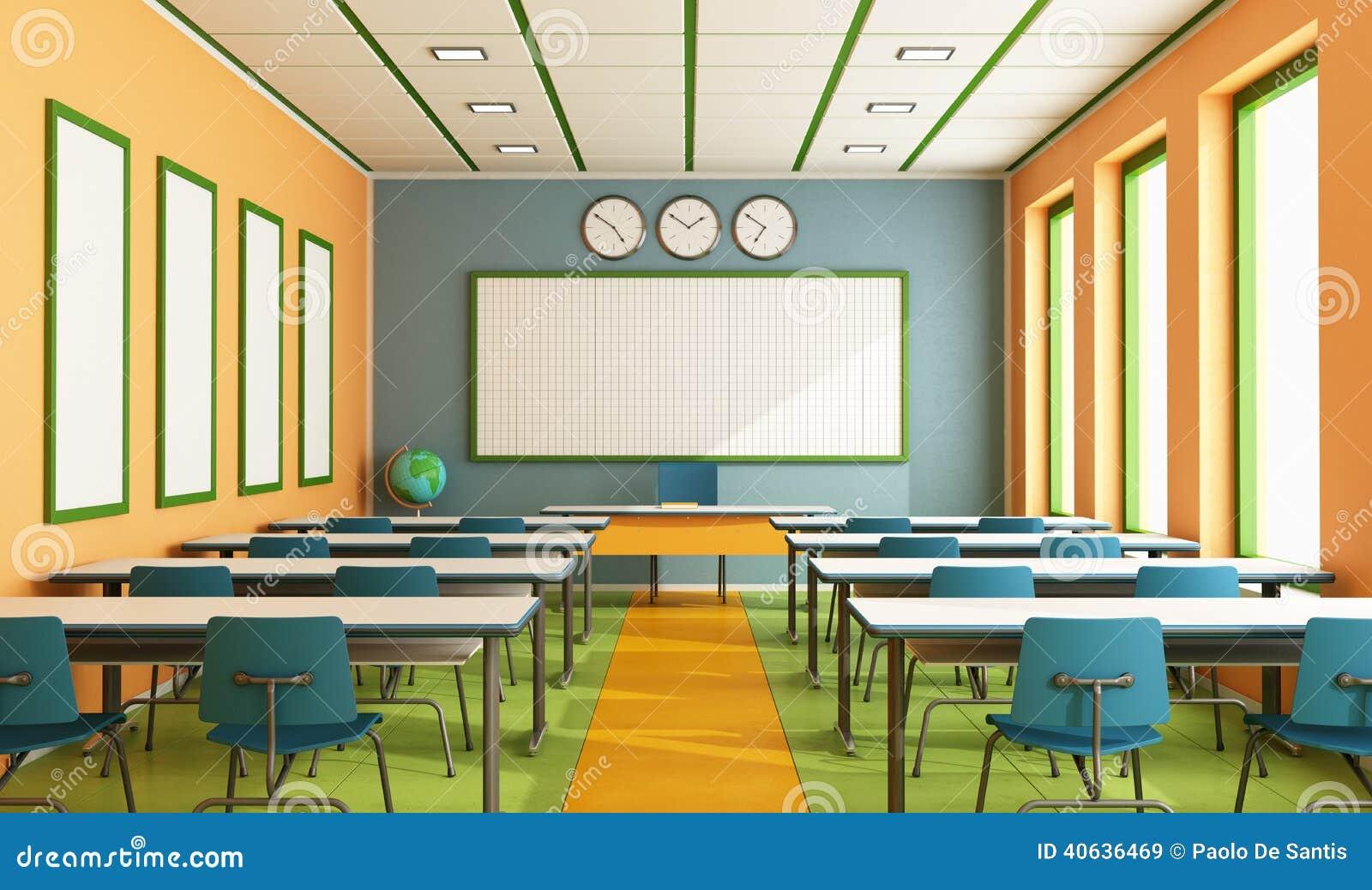 Daycare Floor Plan Salle De Classe Contemporaine Illustration Stock