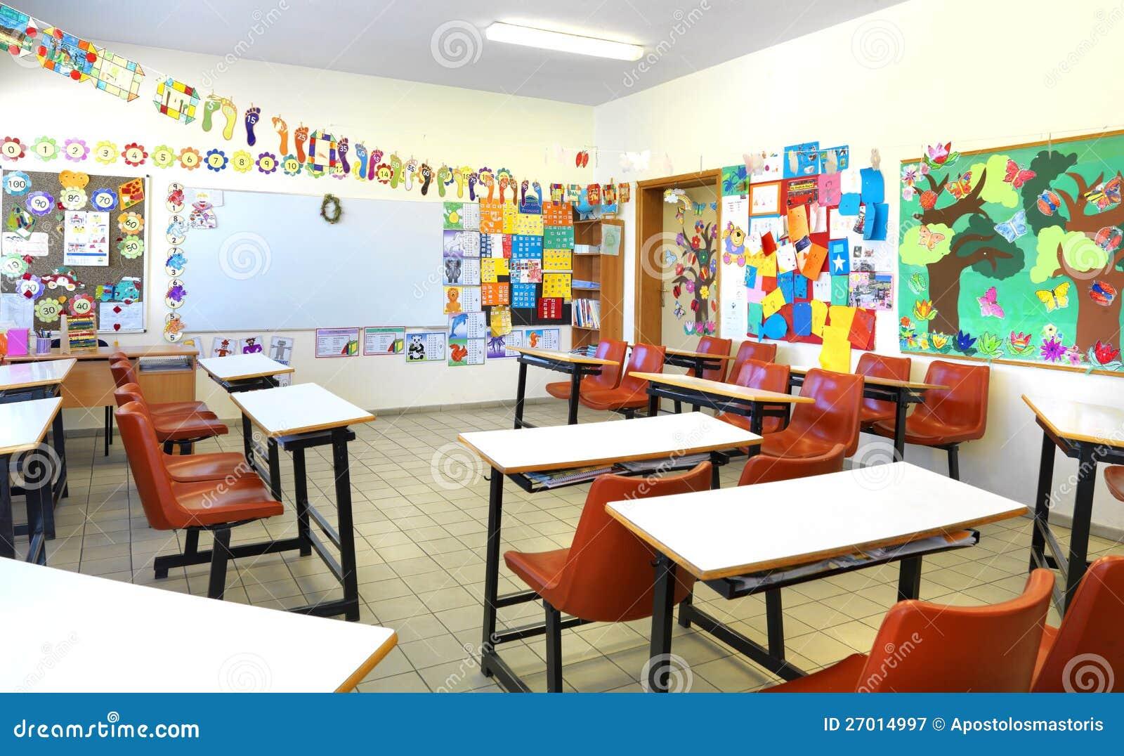 salle de classe d 39 cole primaire image stock image du kindergarten lumi re 27014997. Black Bedroom Furniture Sets. Home Design Ideas
