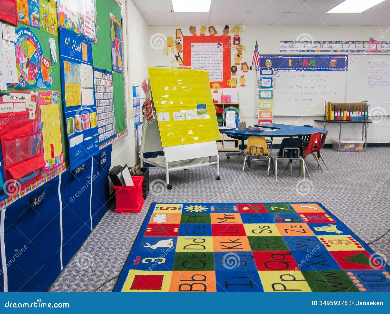 Salle de classe de jardin d enfants