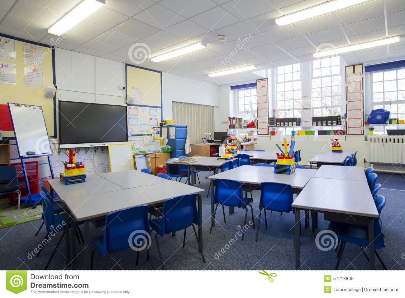 Classroom Ideas Uk : Salle de classe vide photo stock image