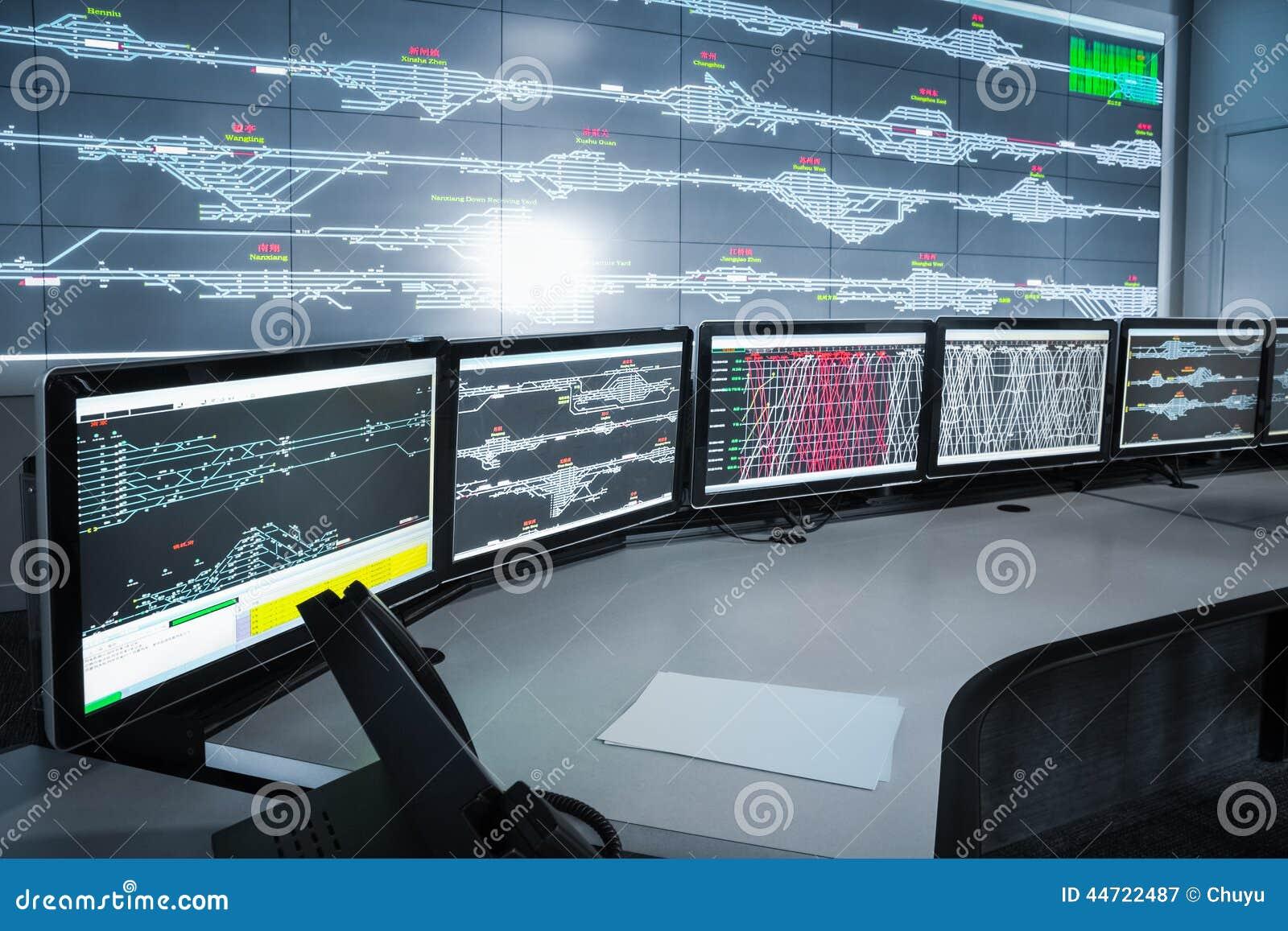 Salle de commande électronique moderne, backgrou de la science et technologie