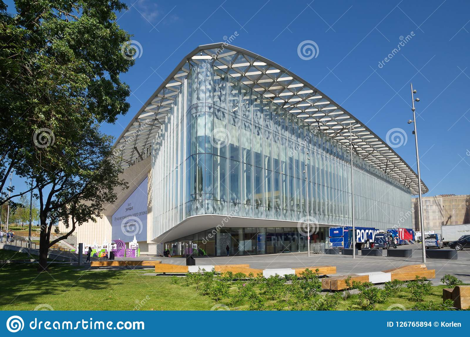 Salle de concert de Moscou Zaryadye, Russie