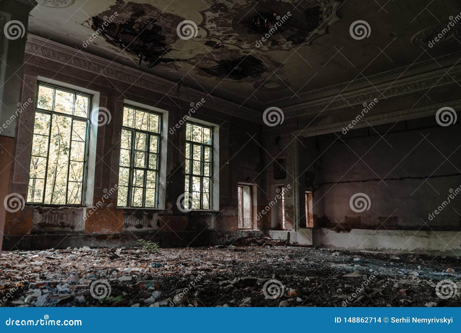 Salle De Reunion Abandonnee A L Ecole Maison D Art Le Concept De