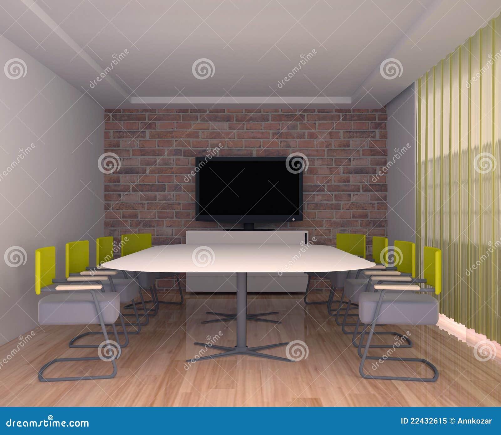 Salle De R Union Avec La Tv L 39 Int Rieur Du Bureau Photo Libre De Droits Image 22432615