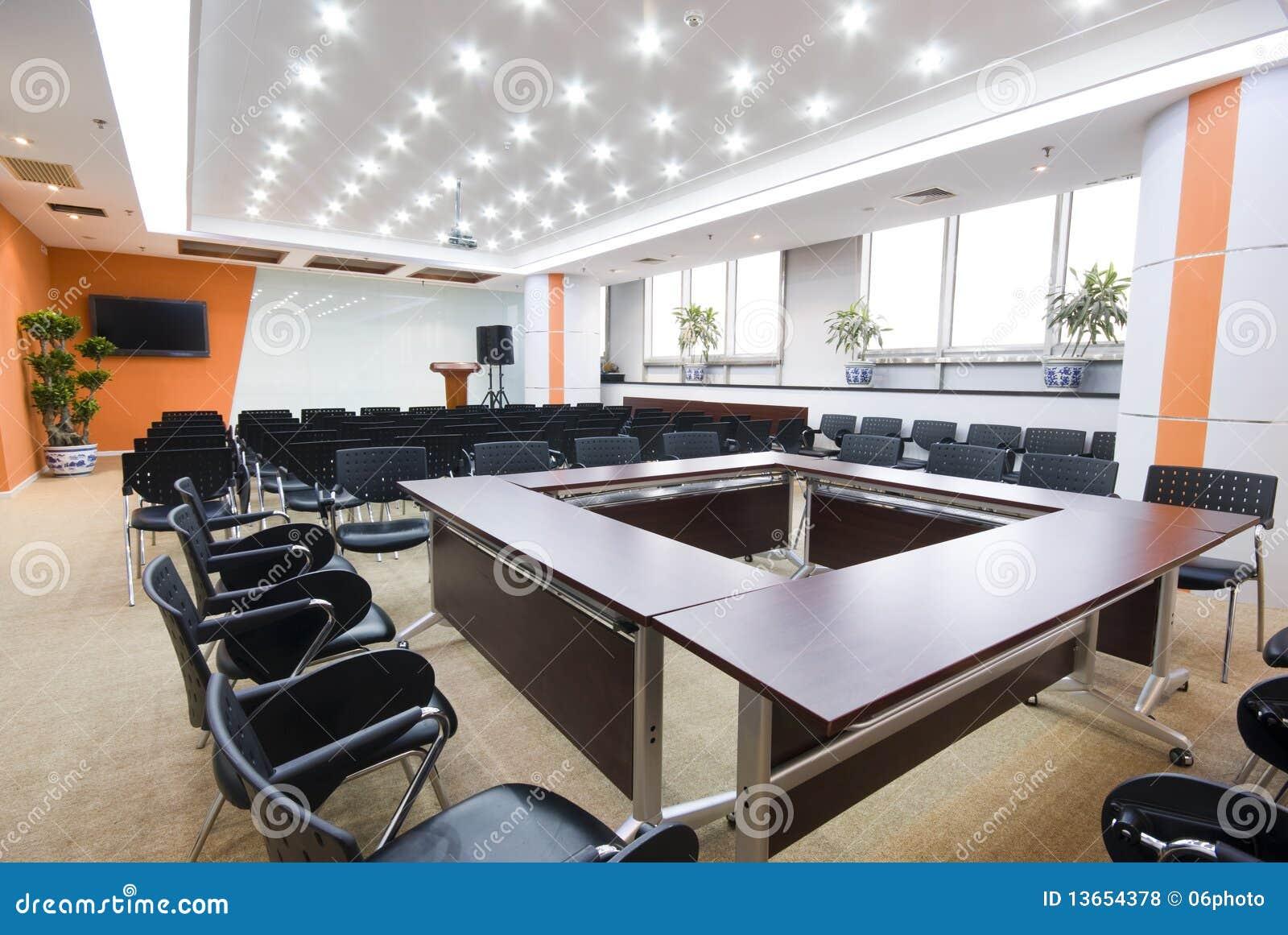 Salle de réunion moderne d intérieur de bureau photo stock image