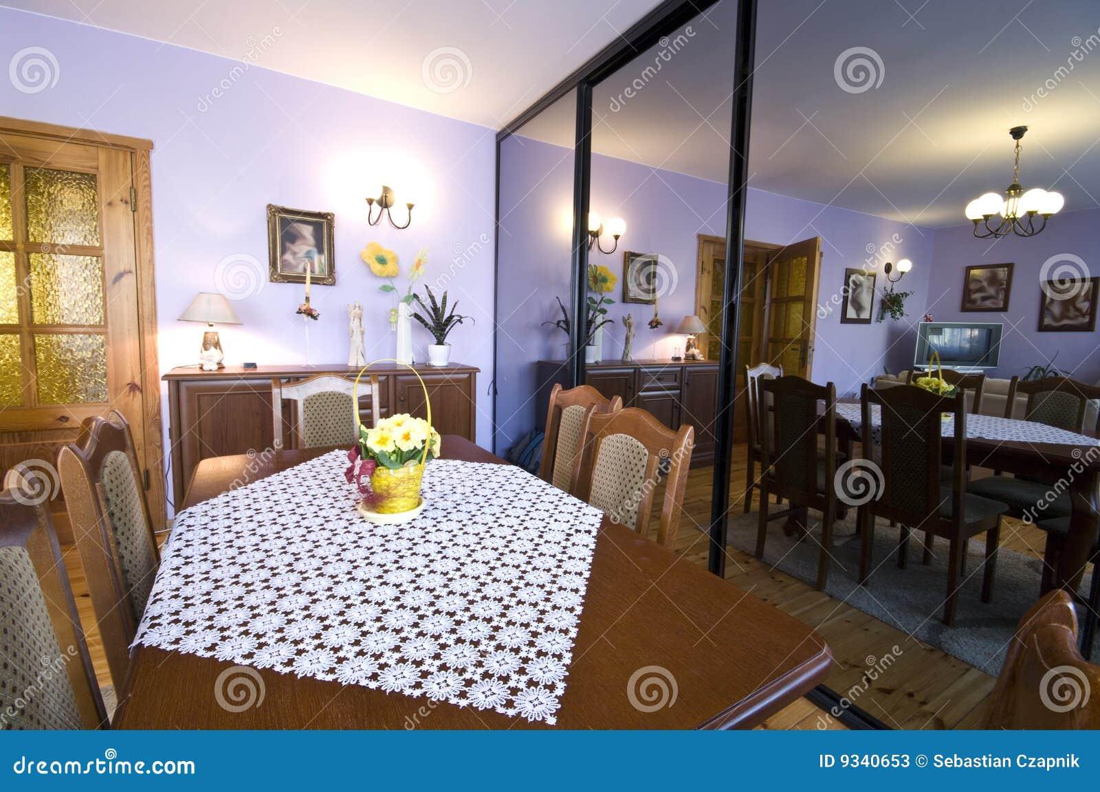 Miroir Salle De Sejour salle de séjour de miroir image stock. image du hardwood