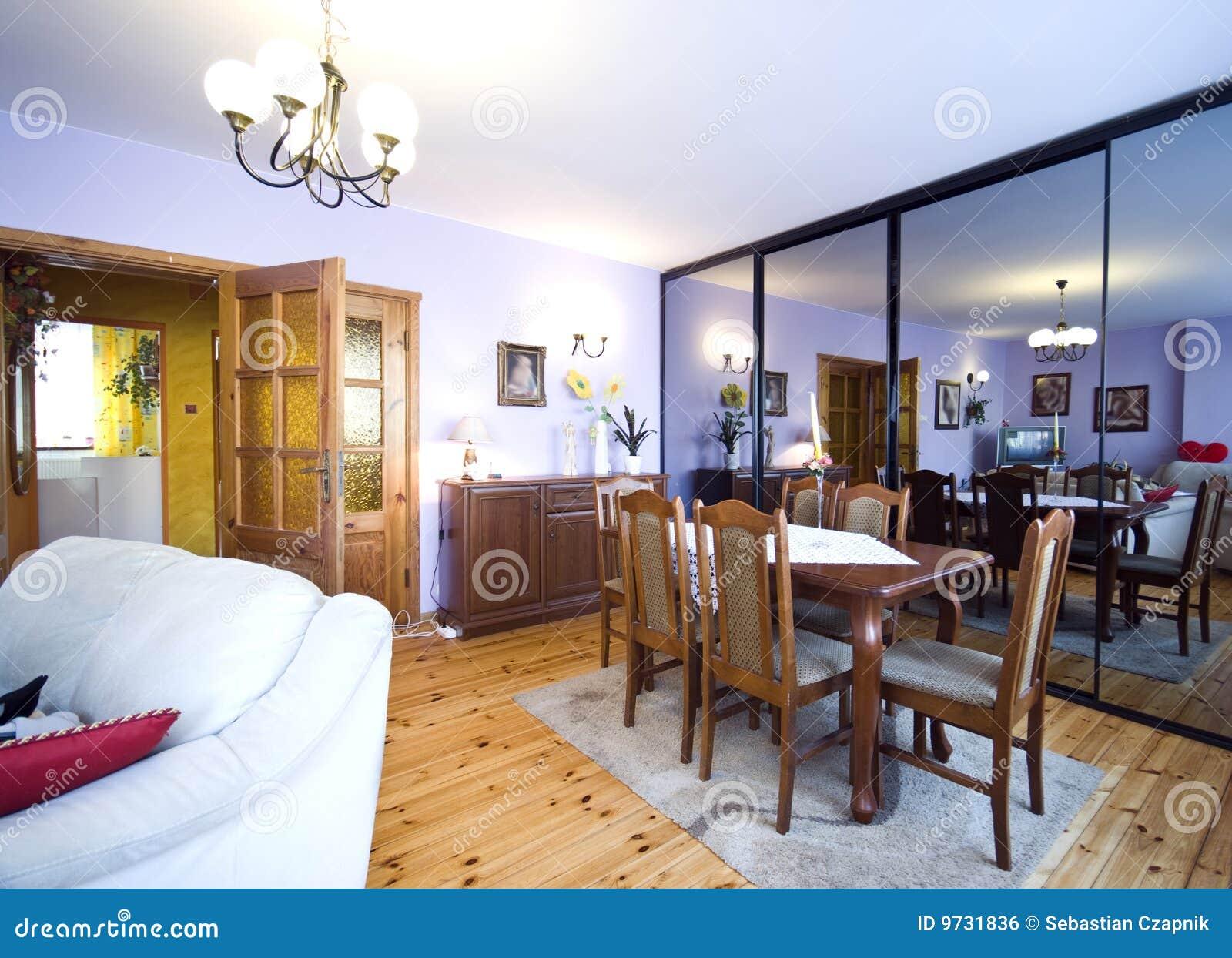 salle de s jour de miroir image libre de droits image 9731836. Black Bedroom Furniture Sets. Home Design Ideas