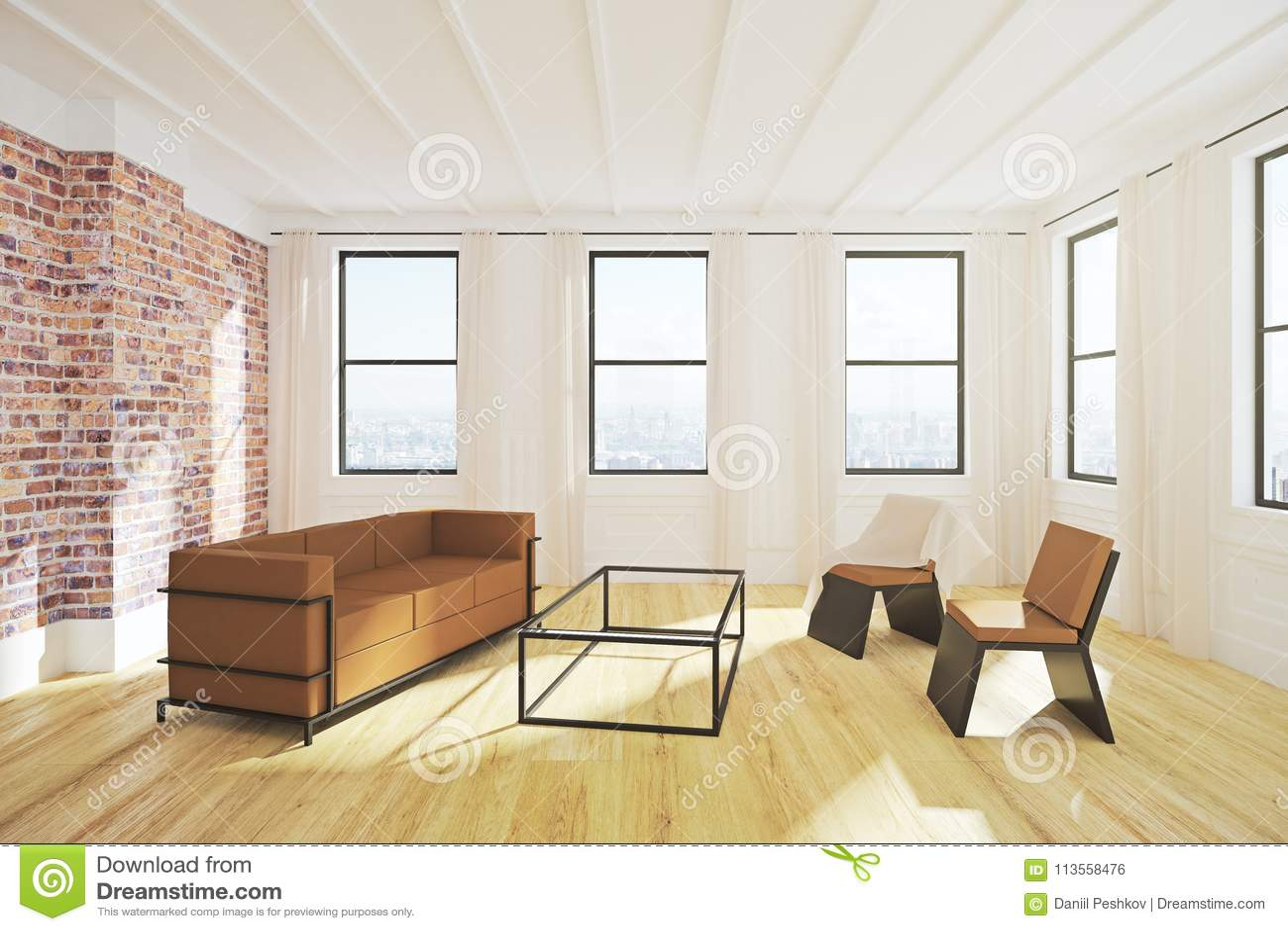 Salle de séjour moderne illustration stock. Illustration du ...