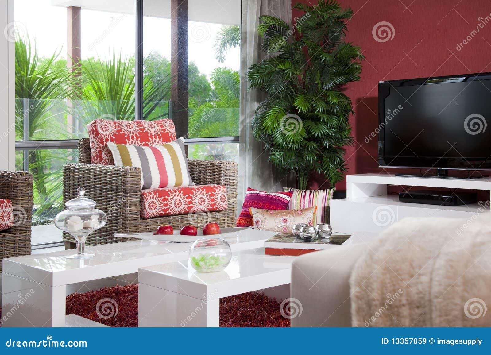 Salle de s jour moderne image stock image du int rieur for Decoration interieur salle de sejour