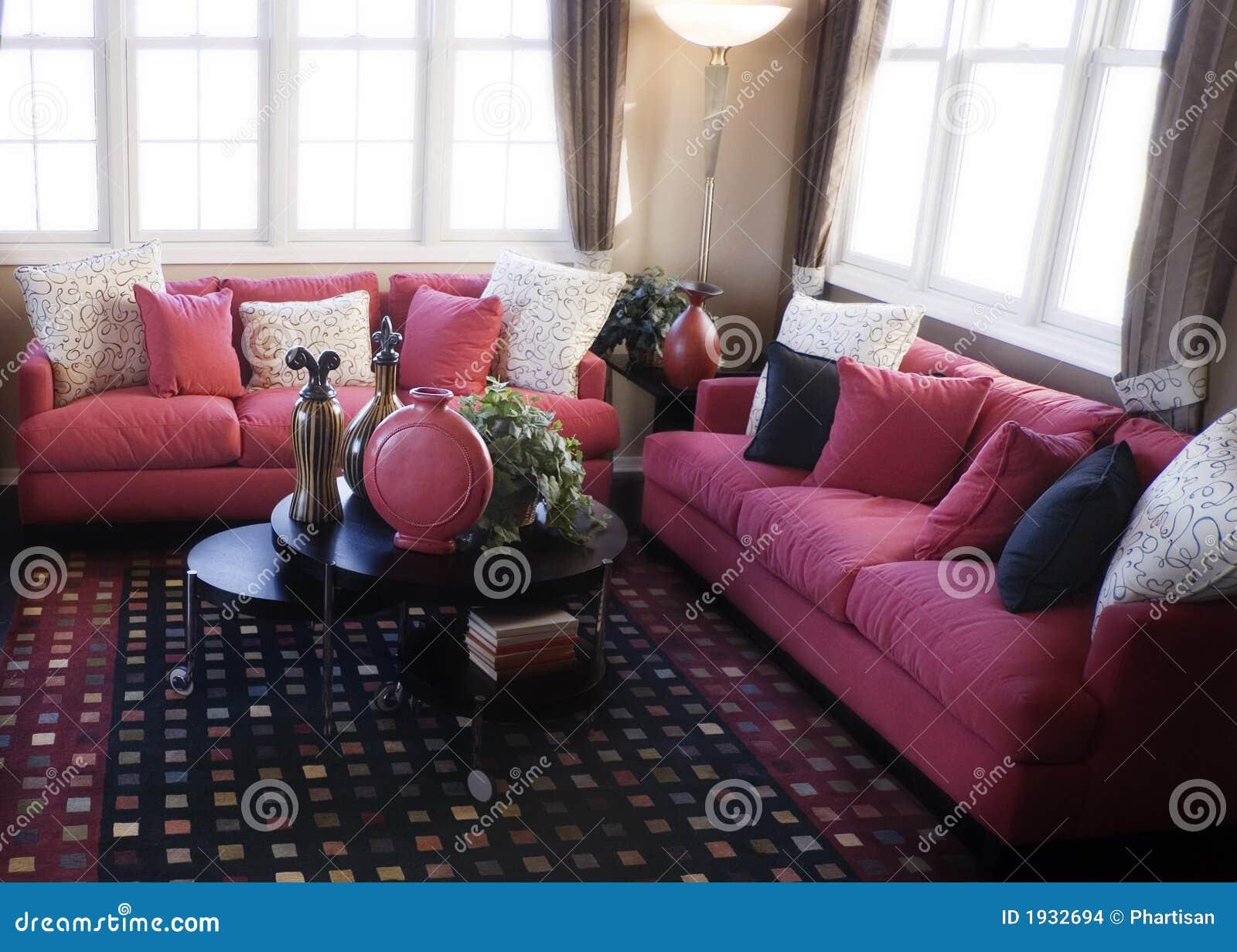 salle de s jour moderne photo stock image du contemporain. Black Bedroom Furniture Sets. Home Design Ideas