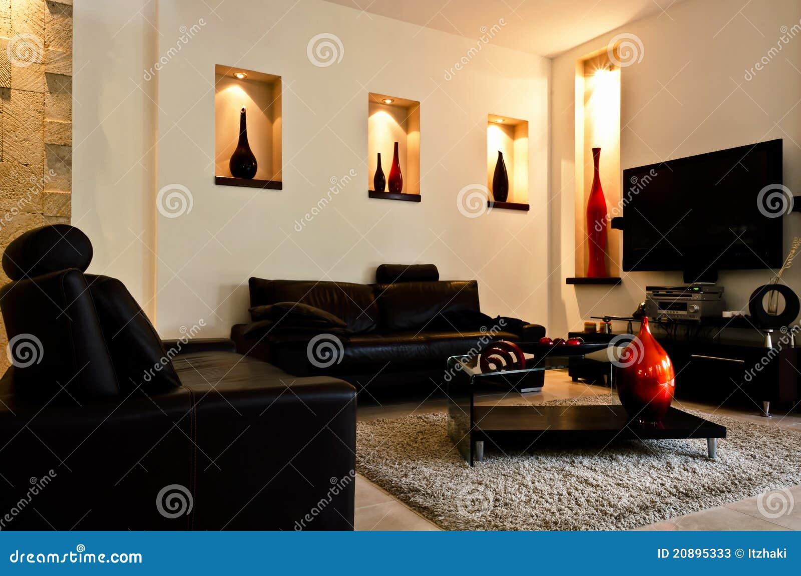 Salle de s jour moderne photos stock image 20895333 for Deco sejour voilage