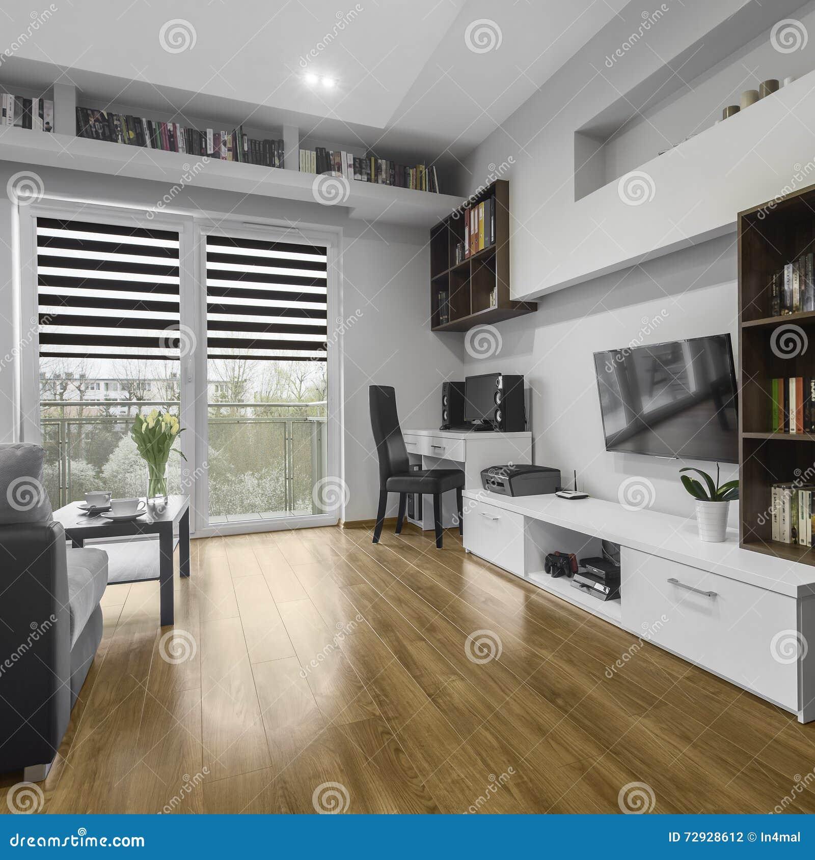 Salle de séjour moderne photo stock. Image du fonctionnel ...