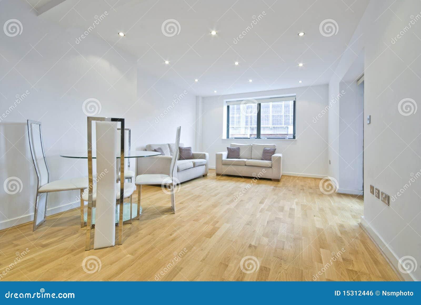 Salle de s jour moderne avec deux sofas dans le beige for Salle sejour moderne