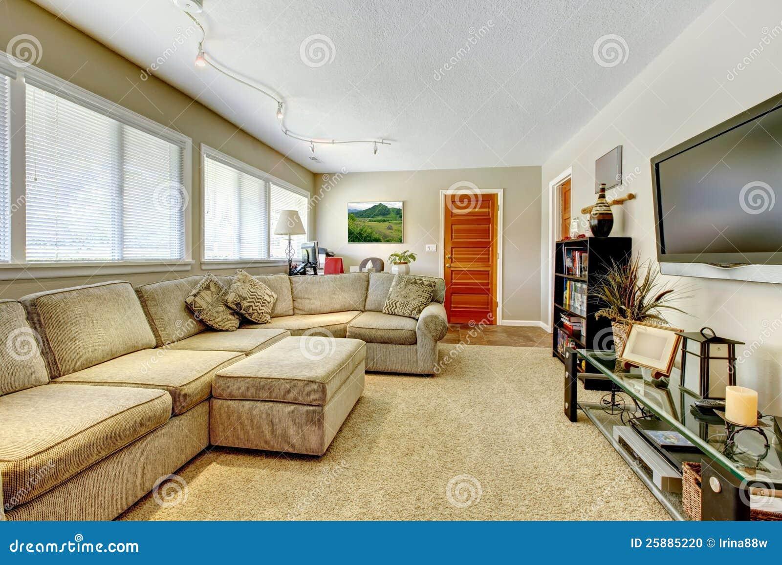 Couleur Salle De Sejour salle de séjour normale de couleurs avec la tv et le grand