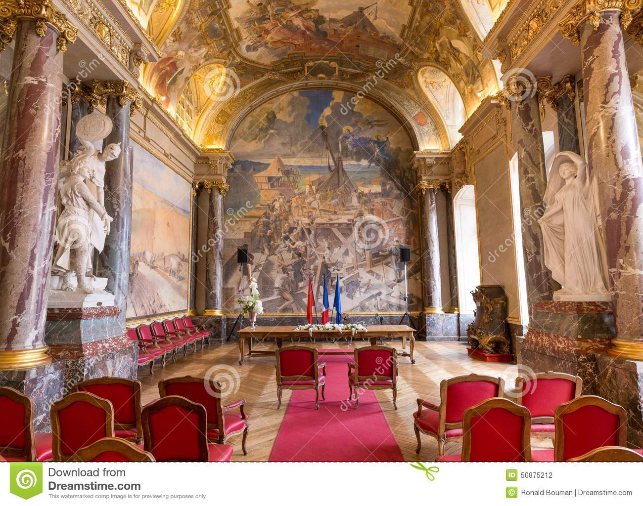salle des illustres in the capitole the toulouse editorial photography image 50875212