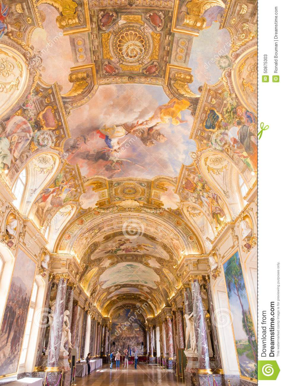 salle des illustres in the capitole the toulouse editorial stock photo image 50875303