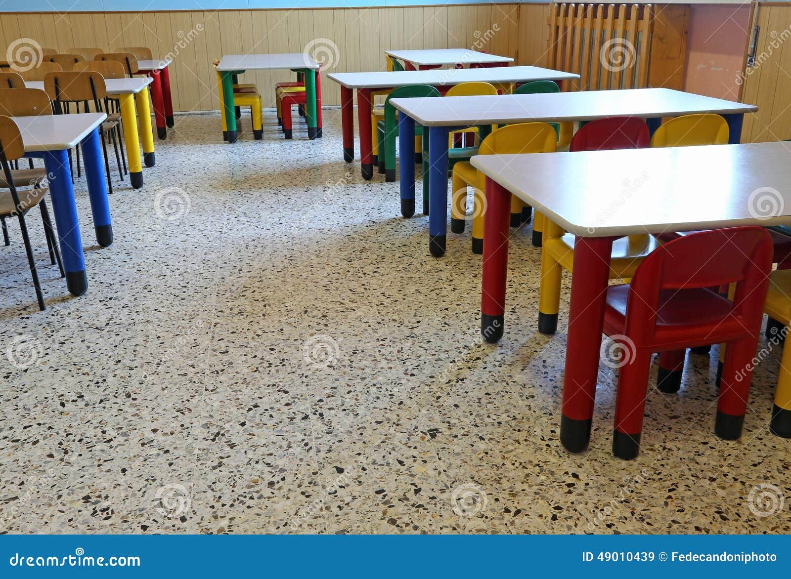 Salle manger de la cantine de cr che sans enfants photo for La salle de manger