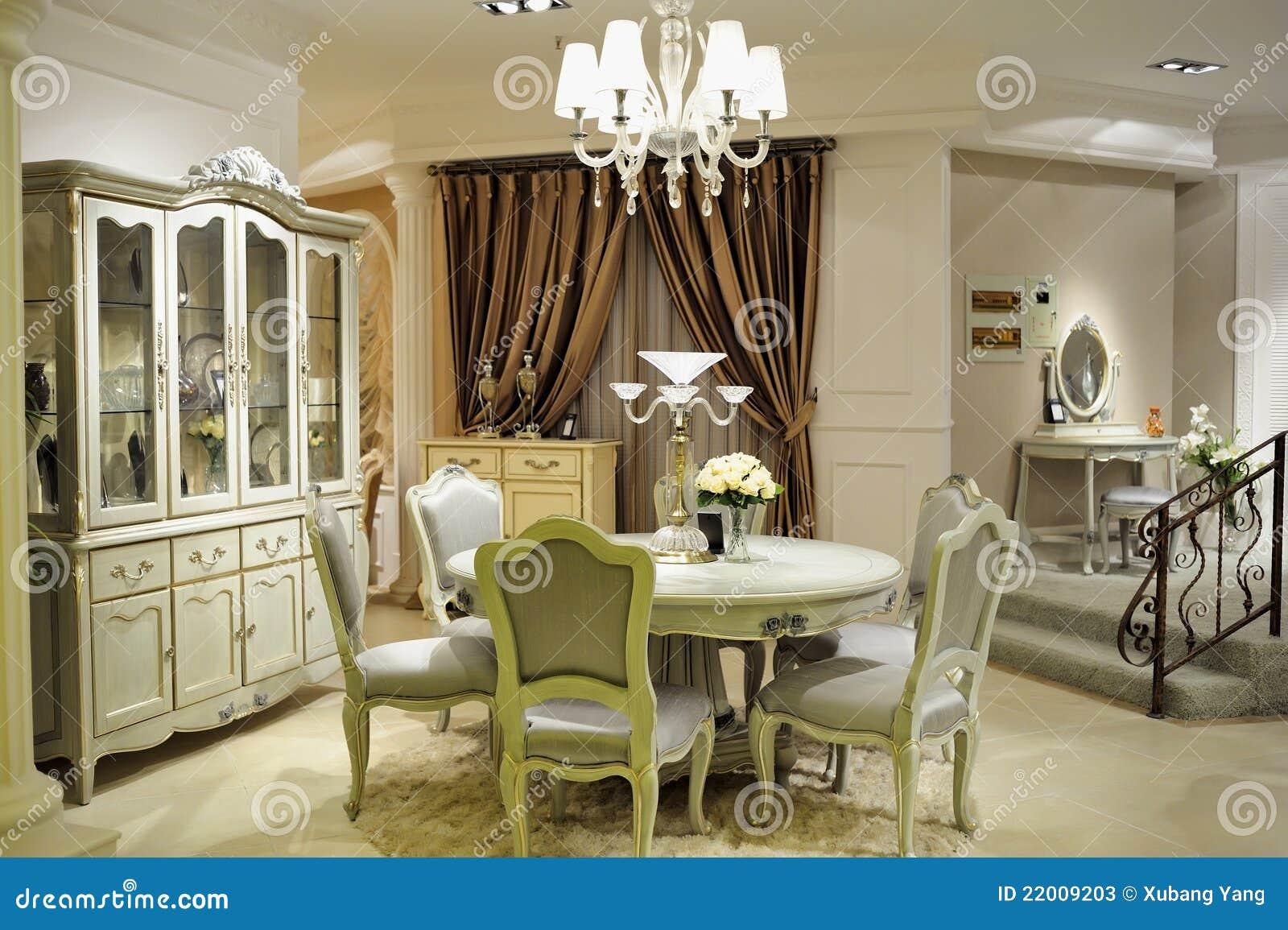 Salle manger de luxe photos stock image 22009203 for Salle a manger de luxe en bois