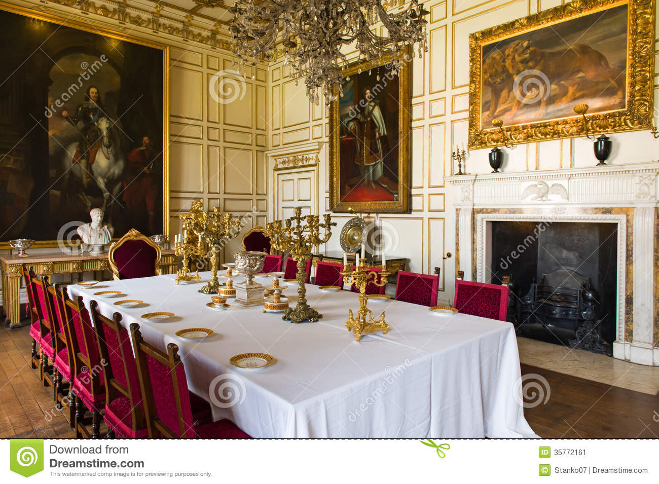 Salle Manger Royale Photo Ditorial Image 35772161