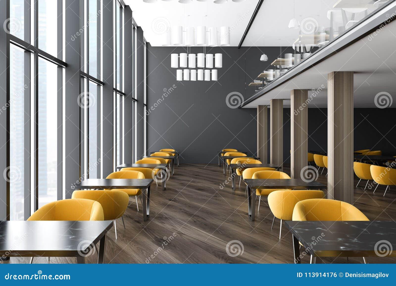 Salle ou classe d attente gris foncé de bureau illustration stock