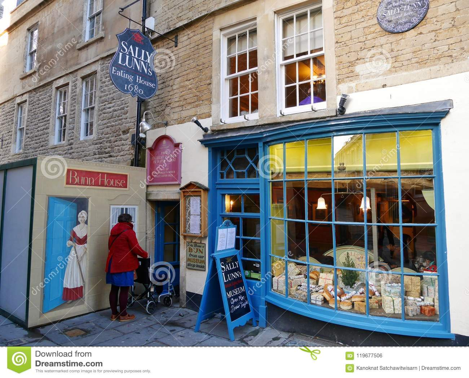 Sally Lunns Restaurant, BATH, ENGLAND, UK Editorial Photo