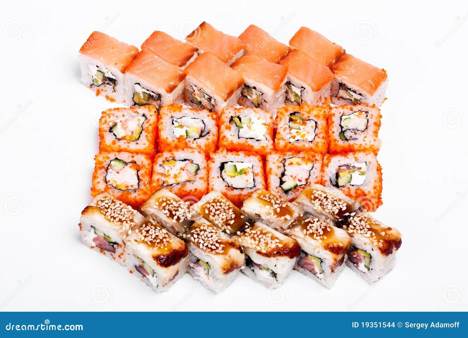 Salmão-Sushi & Nigiri-Sushi & Califórnia-Sushi