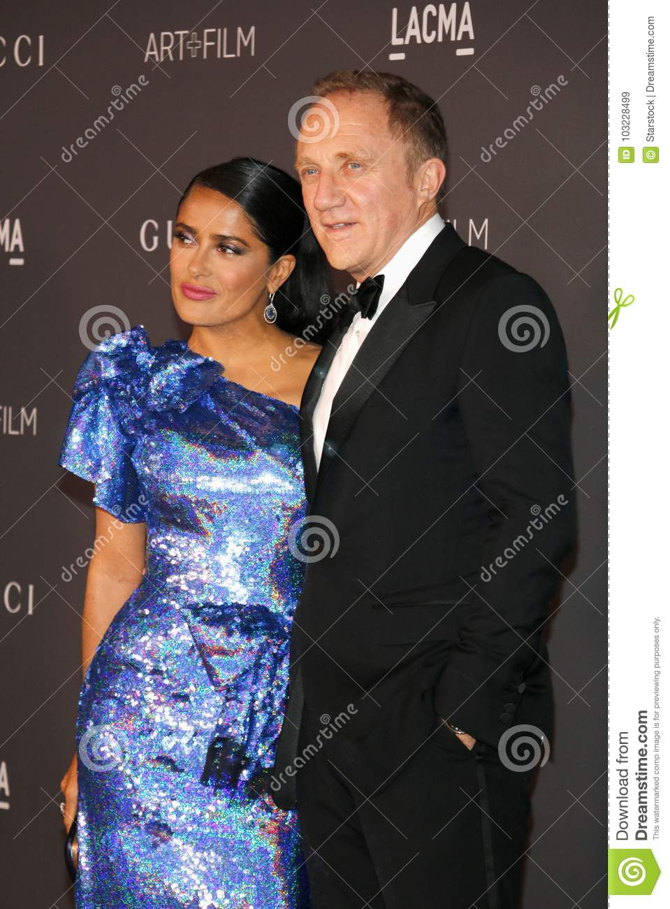 Salma Hayek And Francois-Henri Pinault Editorial Stock Image