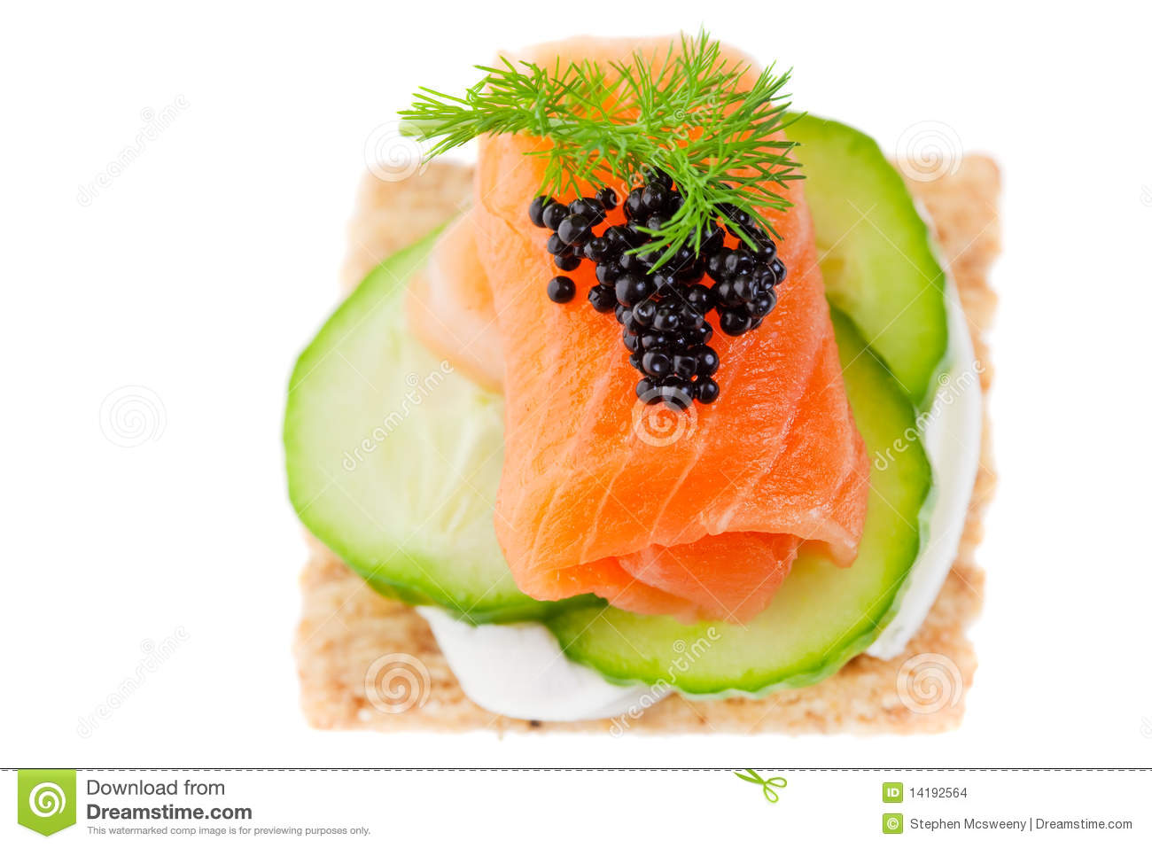 Salmon canape stock photo image of salmon closeup for Smoked salmon canape