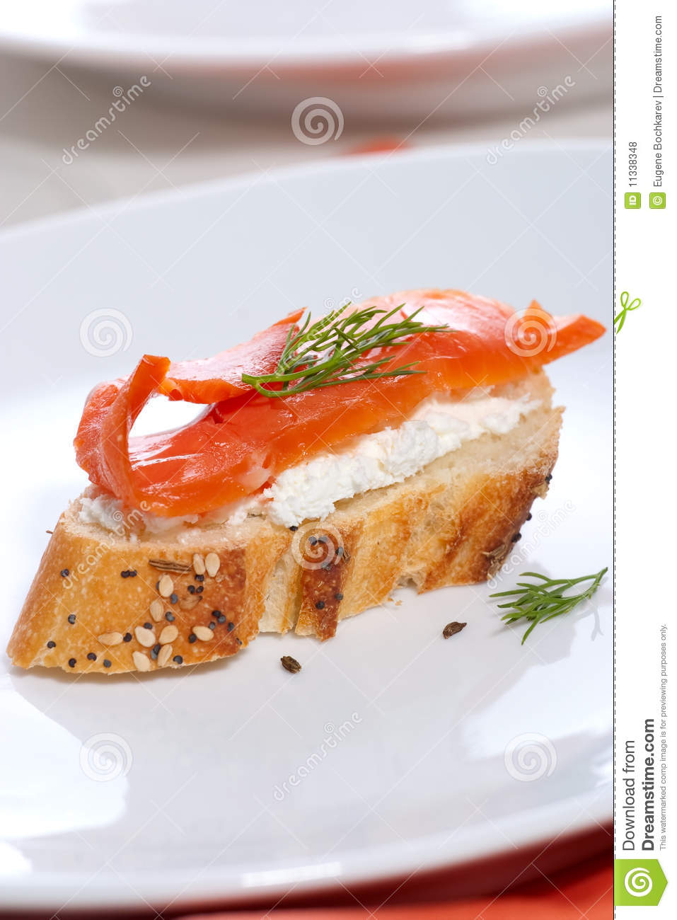 Salmon cheese canape royalty free stock photos image for Smoked salmon cream cheese canape