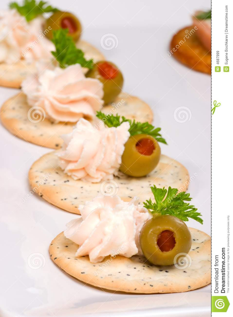 Salmon cheese canape royalty free stock images image for Cream cheese canape