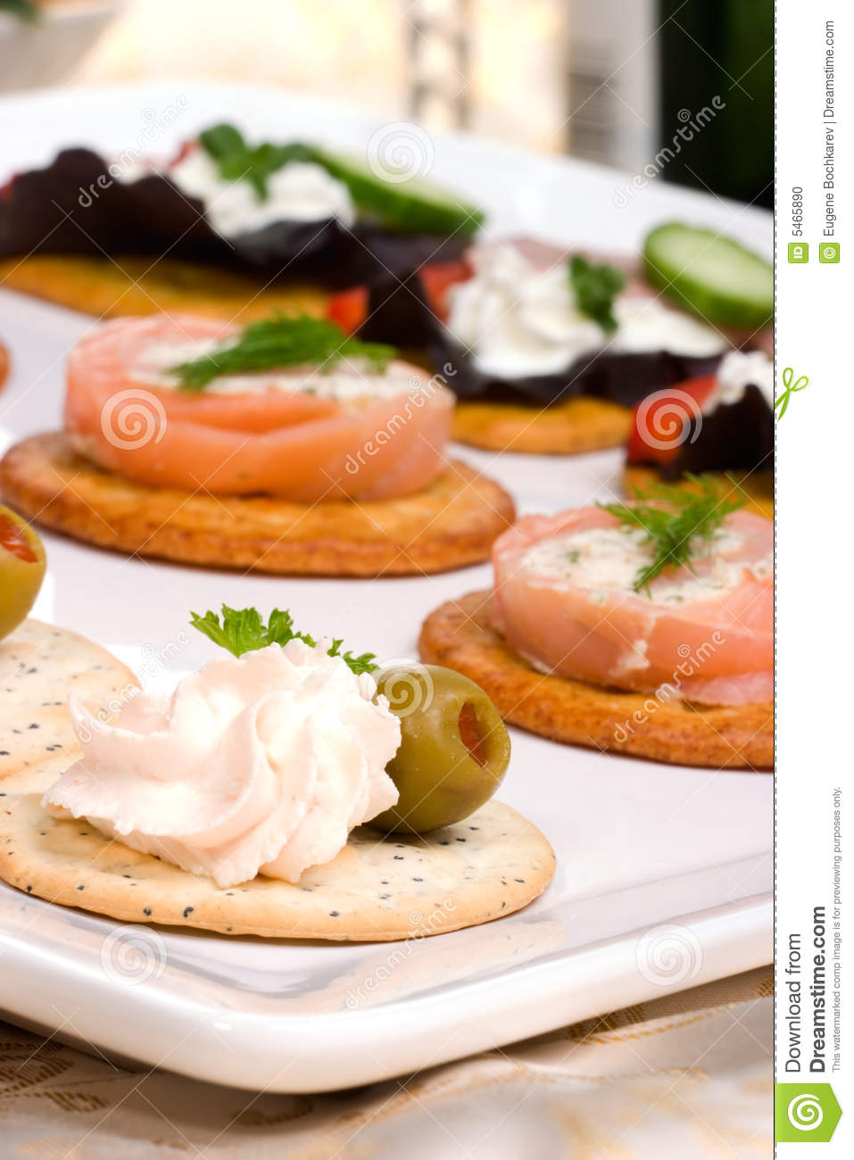 Salmon cheese canape stock photo image 5465890 for Canape spread