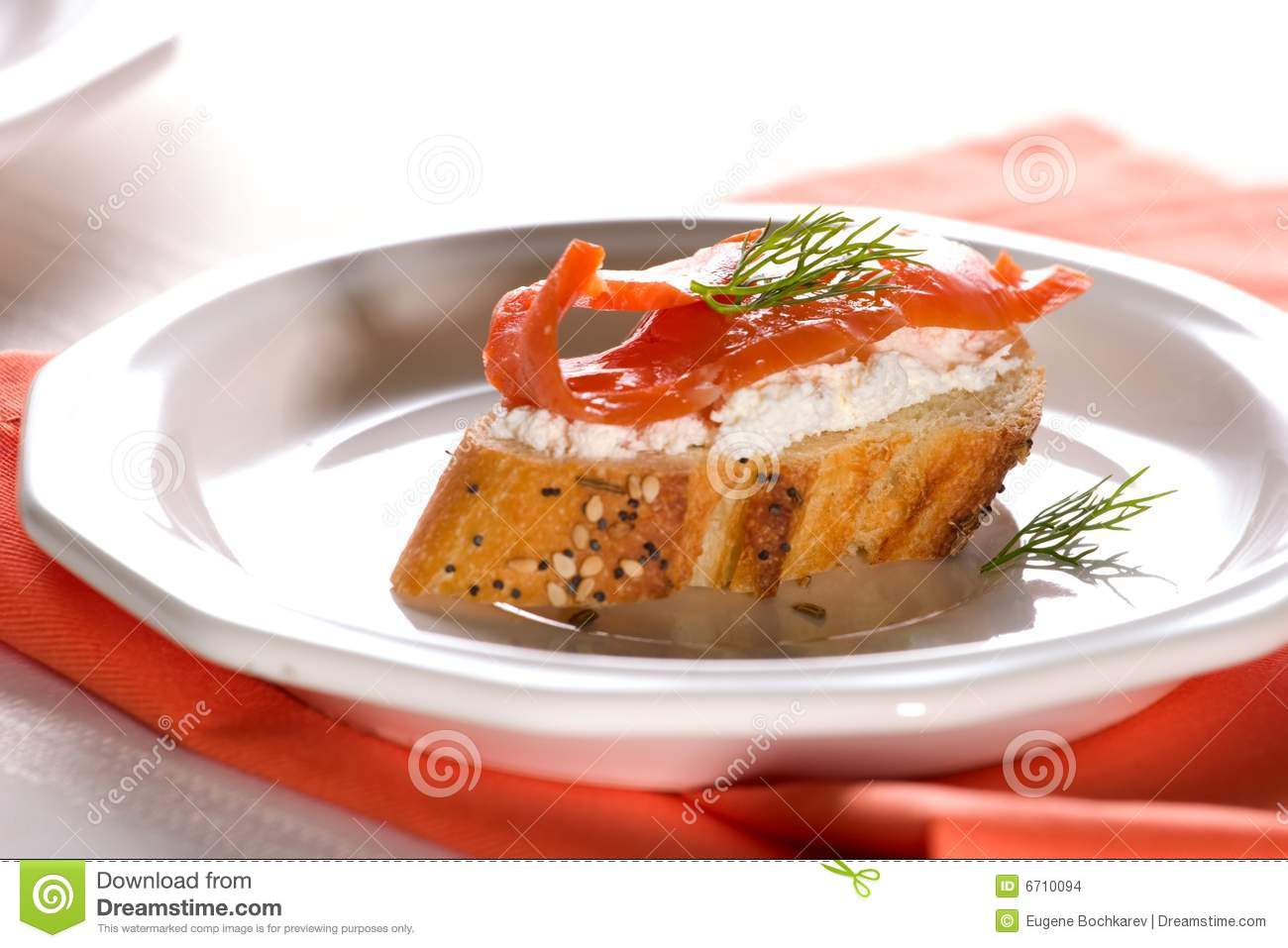 Salmon cheese canape stock images image 6710094 for Smoked salmon cream cheese canape