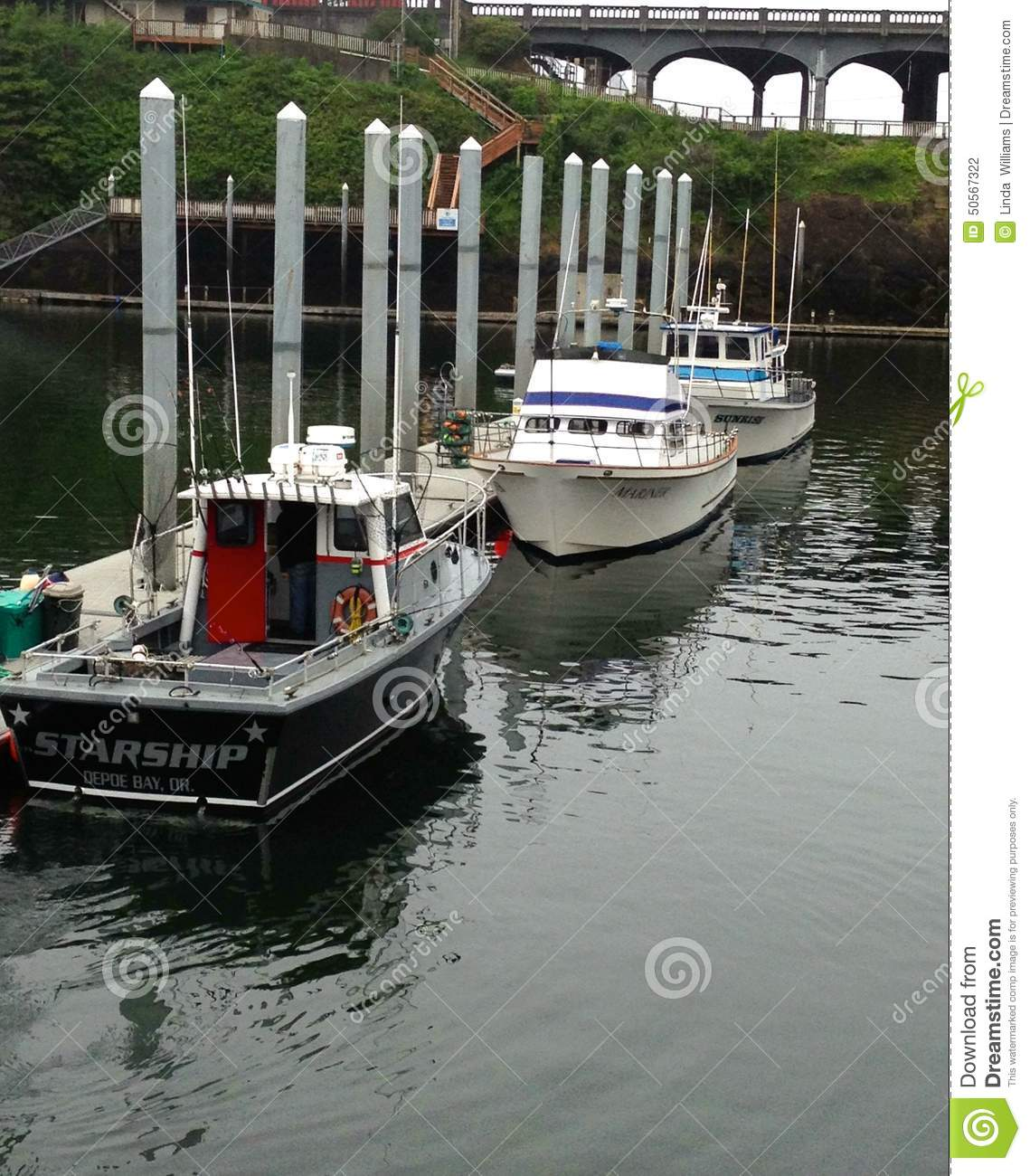 Salmon and cod commercial charter fishing boats editorial for Ocean fishing boats