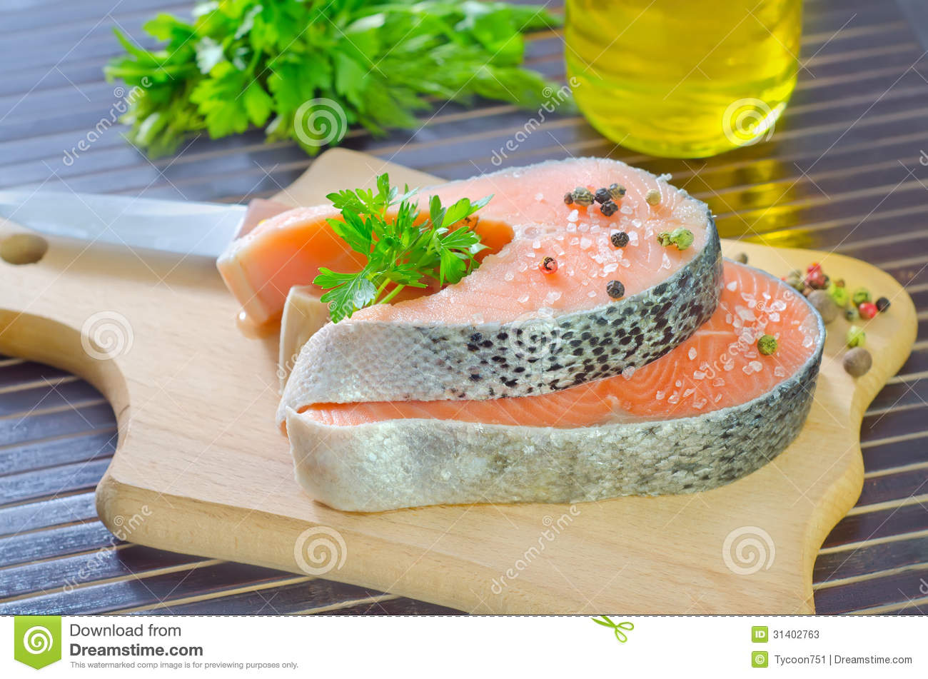 how to cut and freeze salmon